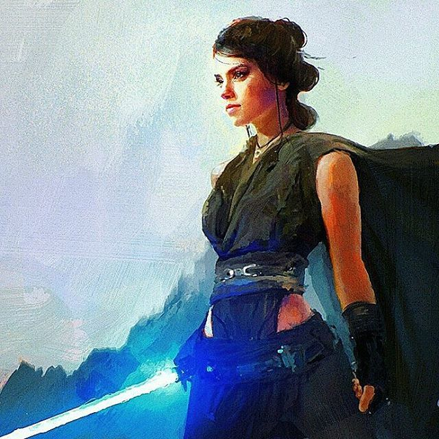 Awesome Rey Episode VIII art