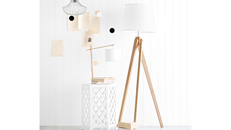 Malmo Tripod Floor Lamp White from Domayne Online