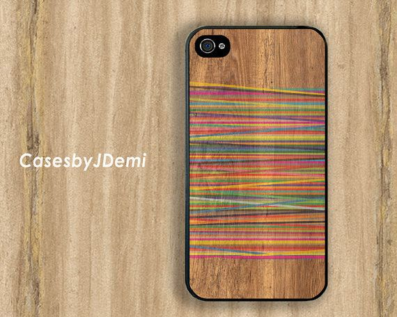 WOOD Print/ Geometric iPhone Case Plastic iPhone 4 by CasesByJDemi, $8.99