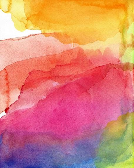 Original Painting Abstract Watercolor Bliss by soveryhappyart, $48.00