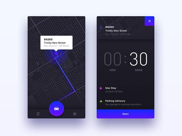 ParkedIt - iOS App UI/UX Design by Nimasha Sewwandi Perera