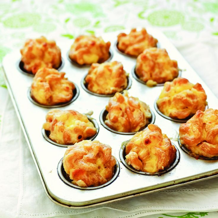 Mac and cheese bites are a toddler favorite—and the mini shape makes it a portable meal.