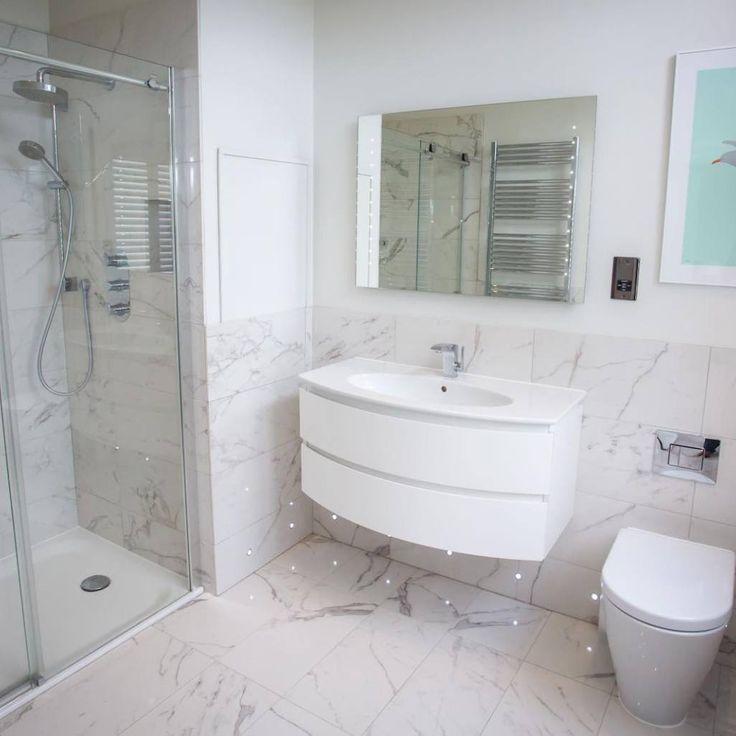 En-suite bathroom design in Worcester by Sarah Ireland Designs featuring  walk in shower and