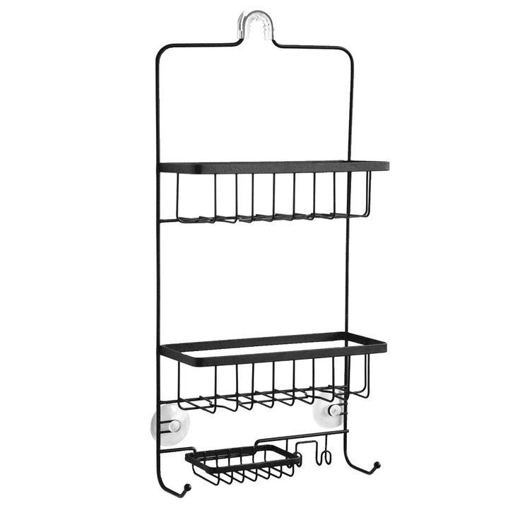 Steel Shower Caddy Matte Black Made By Design Shower Add A Bathroom Washing Clothes