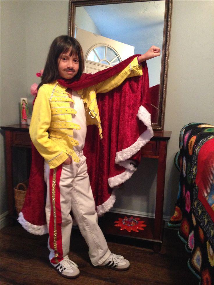 My little Freddie Mercury. #The band Queen #homemade kids costume #halloween
