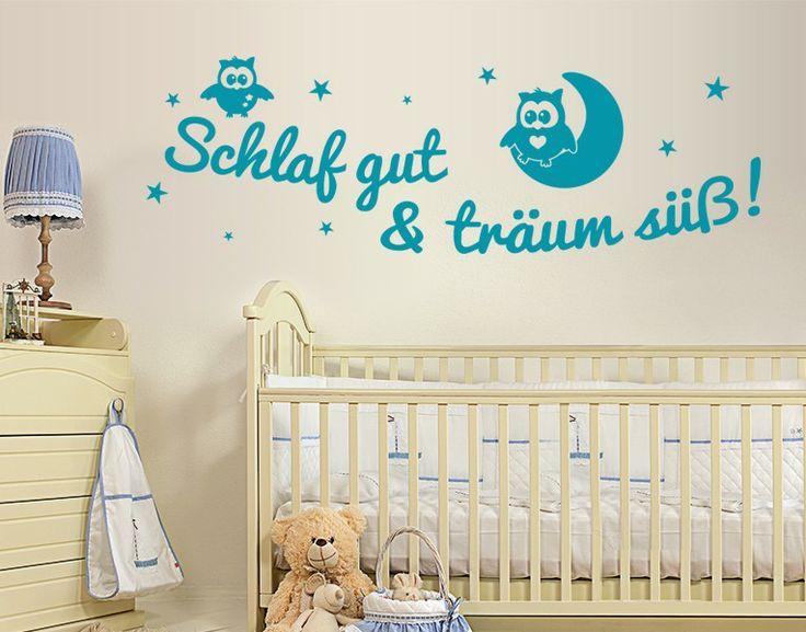 *Weiß vs. Türkis* - Wandtattoo Schlaf gut...