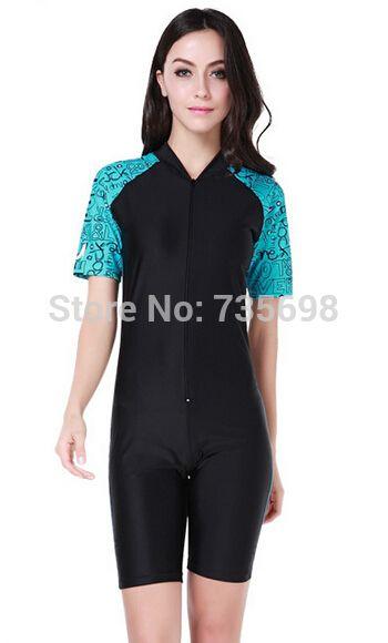 Femmes manches courtes Lycra combinaison pour la plongée Rash Guard Rashguard plongée costume maillots de bain pour la plongée planche à voile de bain