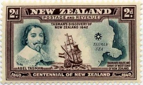 """Captain James Cook on the """"Endeavour"""" 1776 made first recorded circumnavigation of New Zealand - a British cartographer, explorer & ex navy man.- made 3 trips to NZ before being killed by natives in Hawaii."""
