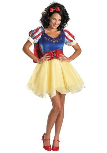 This Sassy Snow White Costume puts a sultry spin on the classic fairytale character. This adult Disney princess dress is fun for Halloween or theme parties.