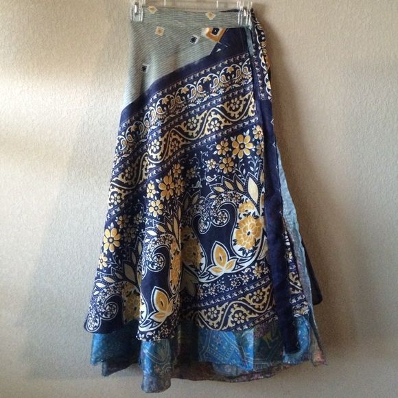 Indian Wrap Skirt Beautiful never worn Indian wrap skirt. Can be worn multiple ways including as a skirt or dress. Skirts