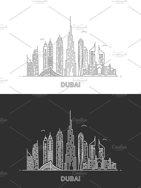 Dubai Skyline Skyline Drawing Architecture Drawing Sketchbooks City Drawing