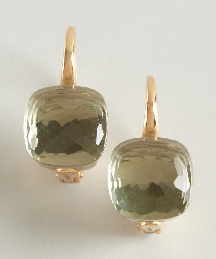 Pomellato gold and prasiolite 'Nudo' earrings