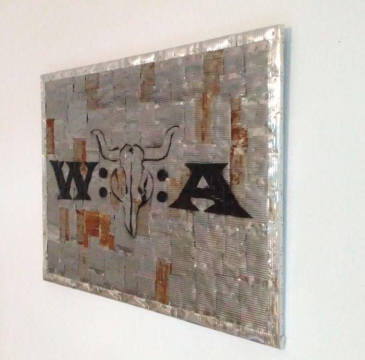 Das Logo vom Wacken-Open-Air Festival auf besonderem Untergrund