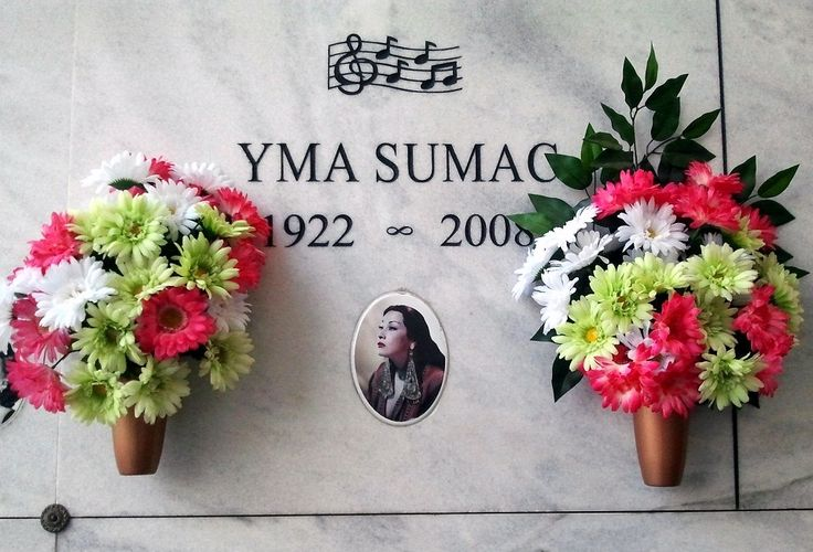 Yma Sumac (1922 - 2008) Singer popular in the 1950s, known for her impressive four octave vocal range and her exotic style