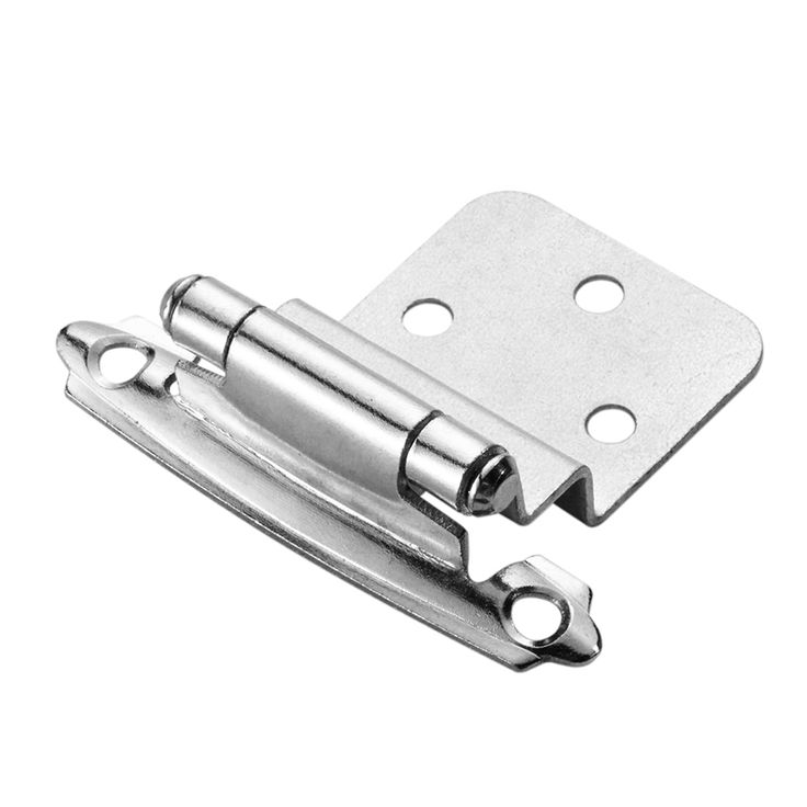 Style Selections 2-Pack 2-3/4-in x 2-1/8-in Chrome Plated Self-Closing Flush Cabinet Hinges