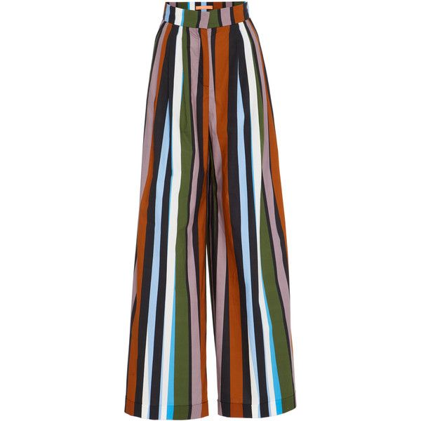 Smarteez Wide Leg Trouser ($435) ❤ liked on Polyvore featuring pants, stripe, flare trousers, flared pants, stripe pants, striped flare pants and striped wide leg trousers