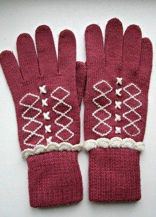 Kupuj mé předměty na #vinted http://www.vinted.cz/doplnky/rukavice/13674264-bavlnene-jemne-ruzove-rukavice-s-krajkou