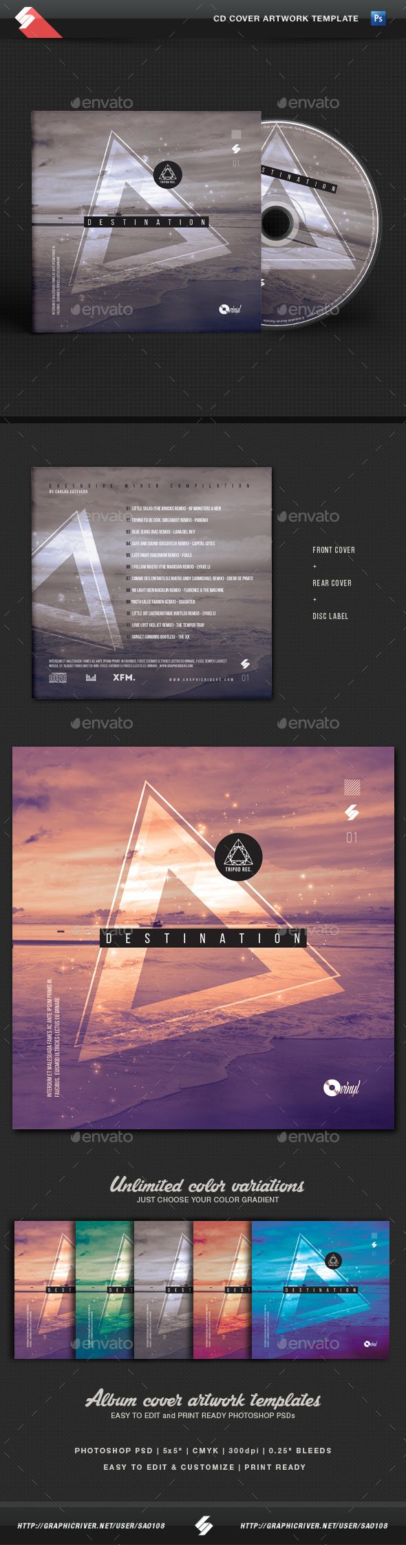 Destination is a minimalistic CD cover artwork for DJs and producents of electronic music like minimal, tech-house, deep house, house music, techno, progressive, dubstep, drum and bass, trance, chillout, ambient, electro, trap, electronica,...etc.  • Only available here ➝ http://graphicriver.net/item/destination-minimal-cd-cover-artwork-template/16488079?ref=pxcr