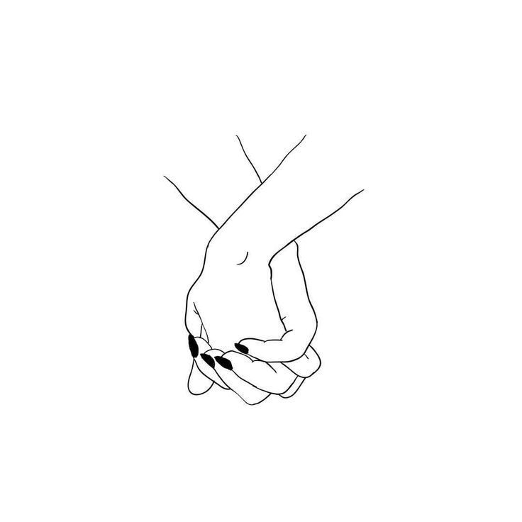"""and when I touch you I feel happy inside"" ? #lineart #hands #design #tattoo … – Sigune Depner"
