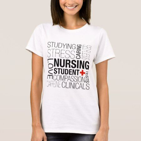 Nursing Student Text T-Shirt - tap to personalize and get yours