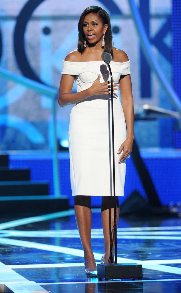 LWD from Michelle Obama's Best Looks  She's a vision in an off-the-shoulder Zac Posen creation.