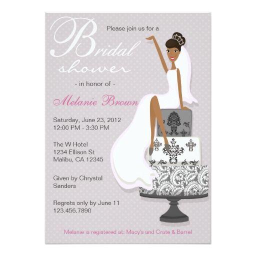 Chic Pink Modern Bride Contemporary Bridal Shower Card