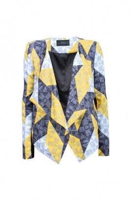 Chevron Print Jacket -CHEVRON-8