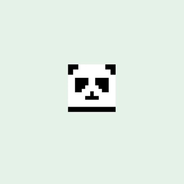 Pixel Panda by Kira Chao @365days.of.cacti -  CURBLY MINIMAL LOGO  LINK IN BIO…