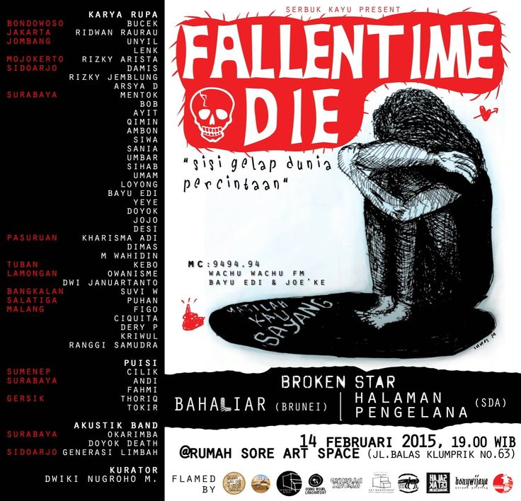 fallentime die 14 february 2015 at Rumah Sore Artspace Surabaya