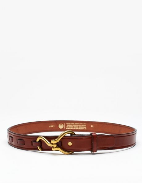 Hoofpick Belt In Tobacco :: mens' leather belt :: menswear style