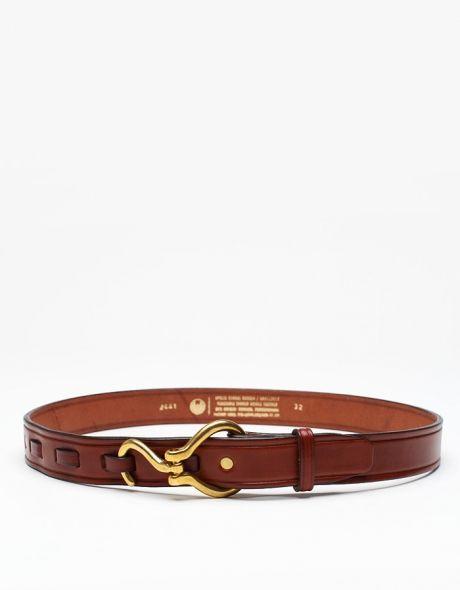Hoofpick Belt In Tobacco :: mens' leather belt :: menswear style