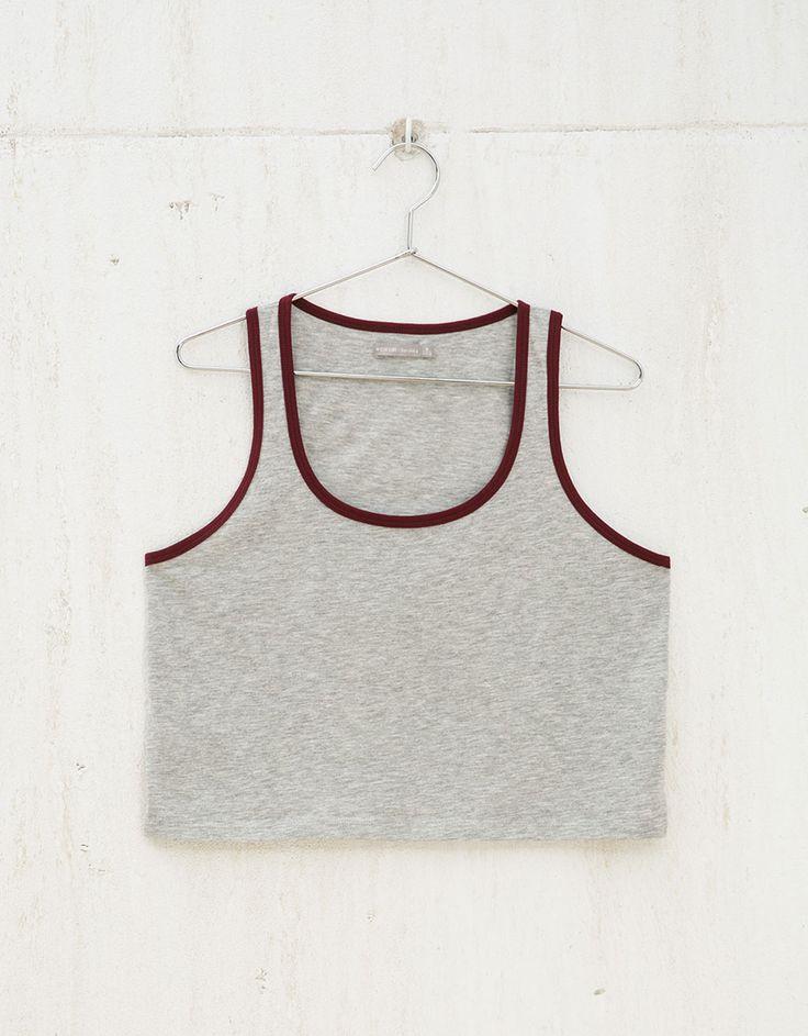 BSK strappy modal cotton top