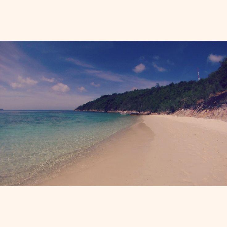 Romantic beach, Perhantian island, Malaisie.