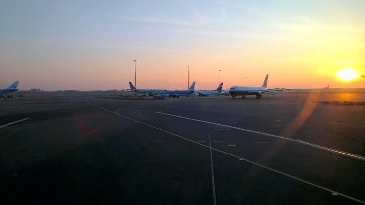 Amsterdam, Schiphol airport. Good morning!  : )