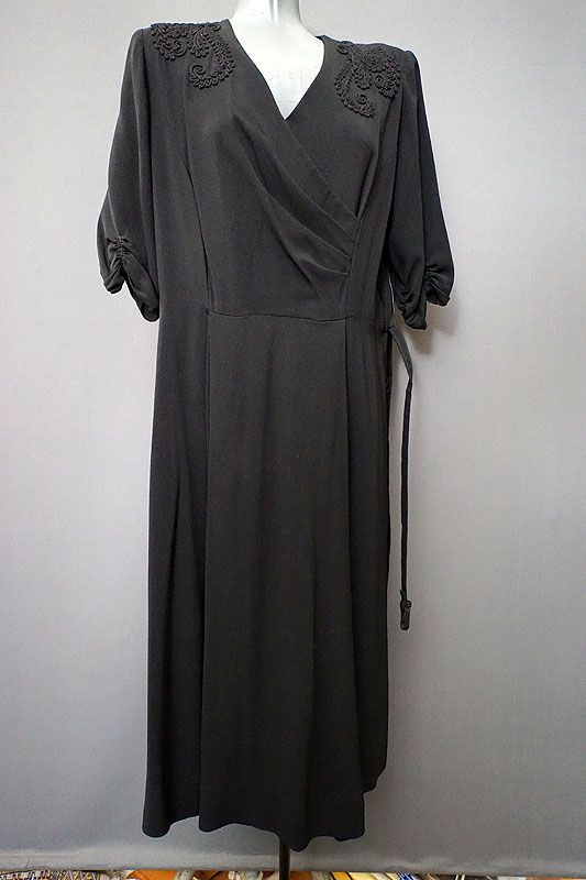 1940's vintage Little Black Dress from The Mabs Collection for sale