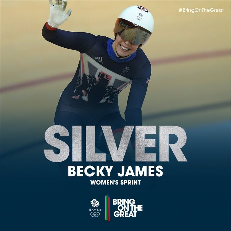 Becky James gets another Silver, this time for Women's Sprint cycling