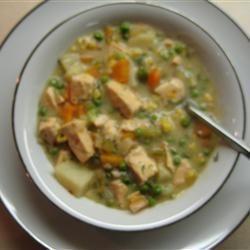 Chaudrée de saumon / recette excellente, faite en avril
