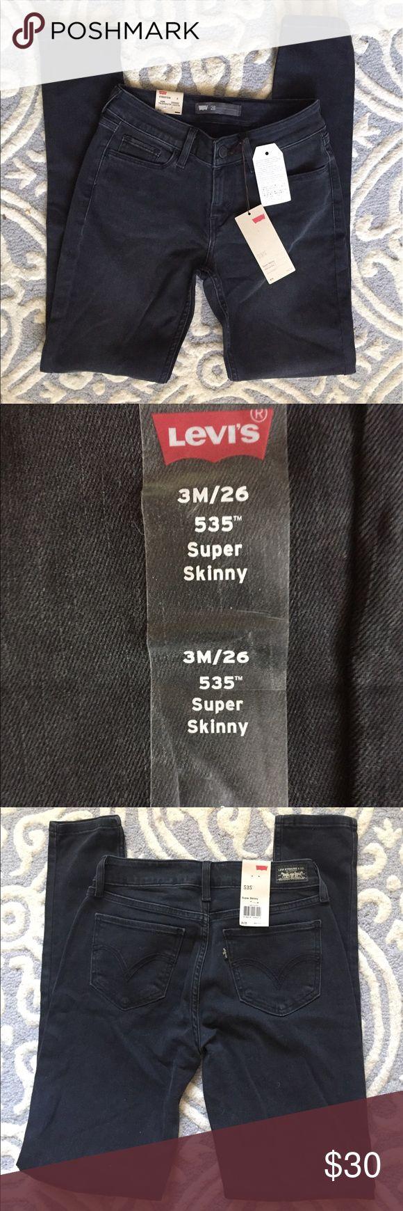 Black Levi's 535 Super Skinny Jeans Black Levi's 535 super skinny. New with tags! Levi's Jeans Skinny