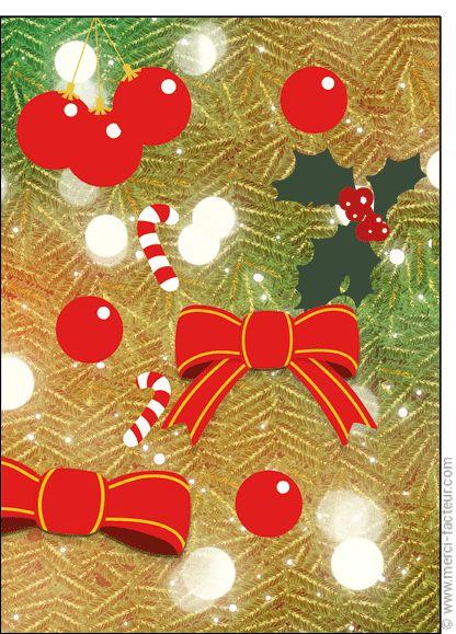 """#Carte #Noël """" #JoyeuxNoël """" Les noeuds du sapin de No�l pour envoyer par La Poste, sur Merci-Facteur !"""