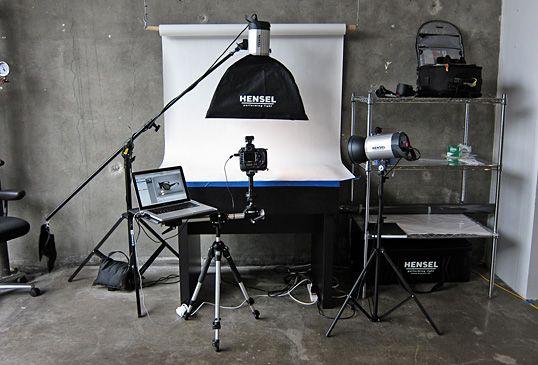 Setting up a product photography studio - Overall Studio Setup