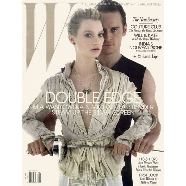 Mia Wasikowska and Michael Fassbender on the Cover of W April 2011Hundred Girls Kowska, Magazine Covers, Michael Fassbender Jane Eyre, Jeans Baptiste Mondino, Jackets, Photos Shoots, W Magazines, April 2011, Magazines Covers