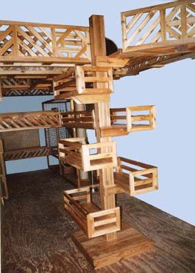 Cat Play Room Plans | Cat Furniture shown above, used with Cat Walks, form Recreational ...