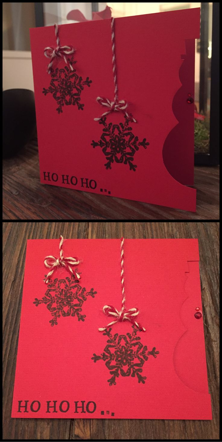 One of the Christmas cards I made this year