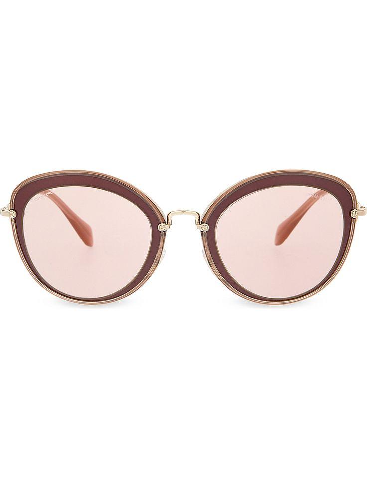 MIU MIU MU50RS Bordeaux cat eye-frame sunglasses