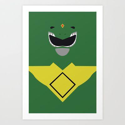 Power Rangers - Green Ranger Minimalist Art Print by TracingHorses - $14.56