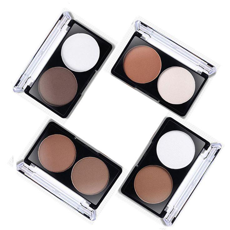 By nanda wajah highlighter bronzer contour shading powder palette set grooming pemangkasan bubuk makeup wajah contour bedak padat
