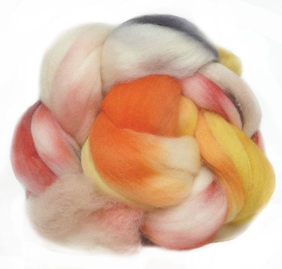SUPERWASH MERINO roving top handdyed wool spinning by FeltStudioUK