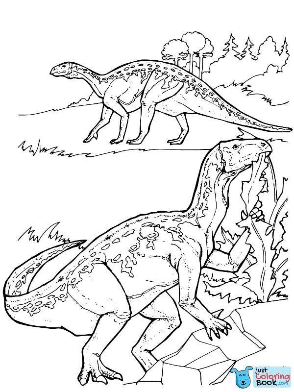 Iguanodon Dinosaurs Coloring Page