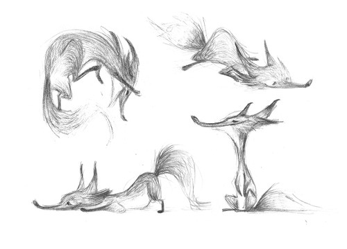 super old fox sketches