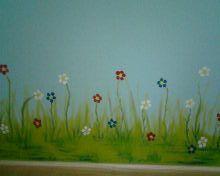 "Muurschildering kinderkamer ""Floddertje"" door Ria Bernards, Ridesign."